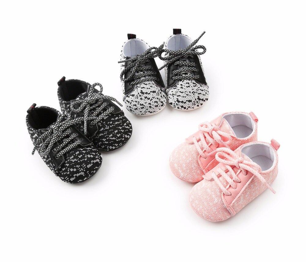 Nowy projekt Shallow Cotton Fabric Dots Sznurowane Wiosna Newborn - Buty dziecięce - Zdjęcie 6