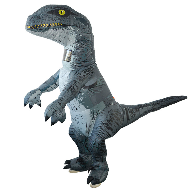 Party Adult Inflatable Dinosaur Costume Cosplay Fantasy Inflatable Velociraptor Halloween Costume for Women Man