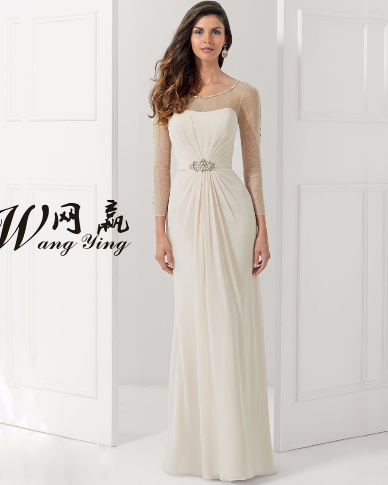 Online get cheap mother of the bride beige plus size for Plus size beige wedding dresses