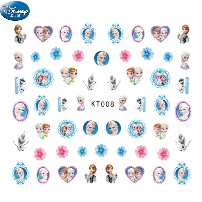 Cartoon Mickey Minnie  Nail Stickers Toy  Disney Frozen Elsa Princess Girls Snow Sticker Makeup Toy Art Decorations Girls Gift
