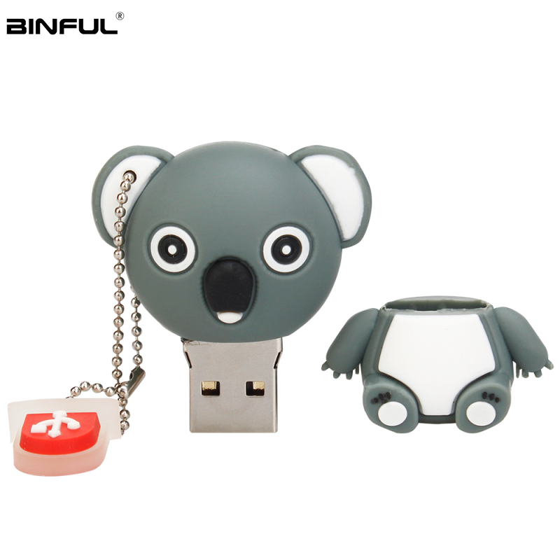 Image 4 - Pen Drive 32gb Cartoon Pink Pig/Monkey/Elephant/Koala Usb Flash Drive 64gb 128gb 16gb 8gb 4gb Pendrive Best Gift Free Shipping-in USB Flash Drives from Computer & Office