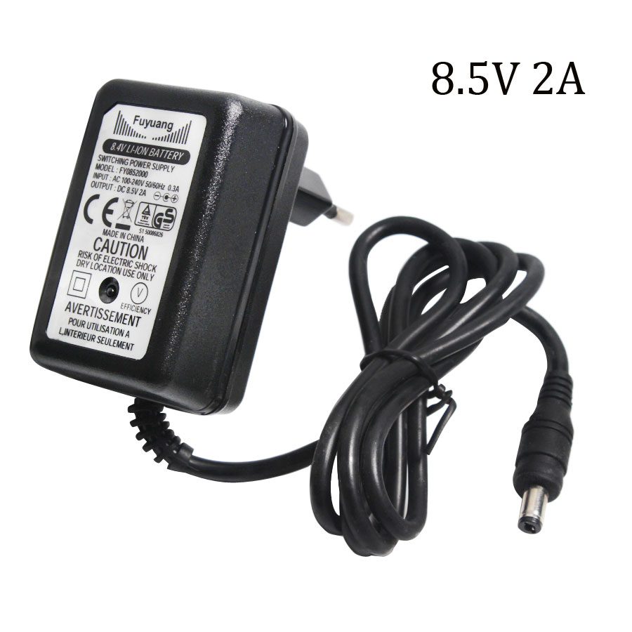 1PCS AC 100-240V EU US DC 8.4V 2A 5.5*2.2mm Polymer Lithium Battery Charger 7.4V 2A Power Adapter DC Plug 5.5*2.1mm eu plug battery charger for samsung i9100 galaxy s2 100 240v