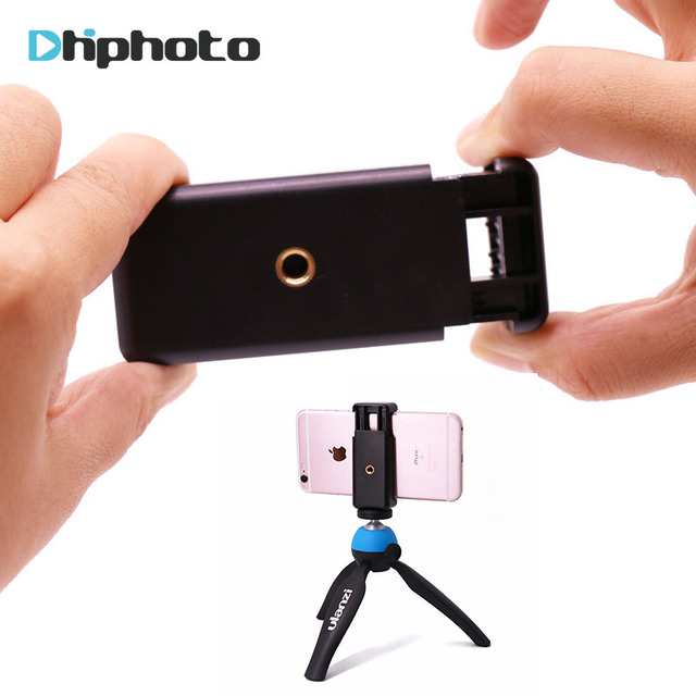 Ulanzi Mobile Phone Clip Clamp Holder,Smartphone Tripod Mount Adapter Universal for iPhone 8 X 7 6 Plus Samsung Galaxy S6