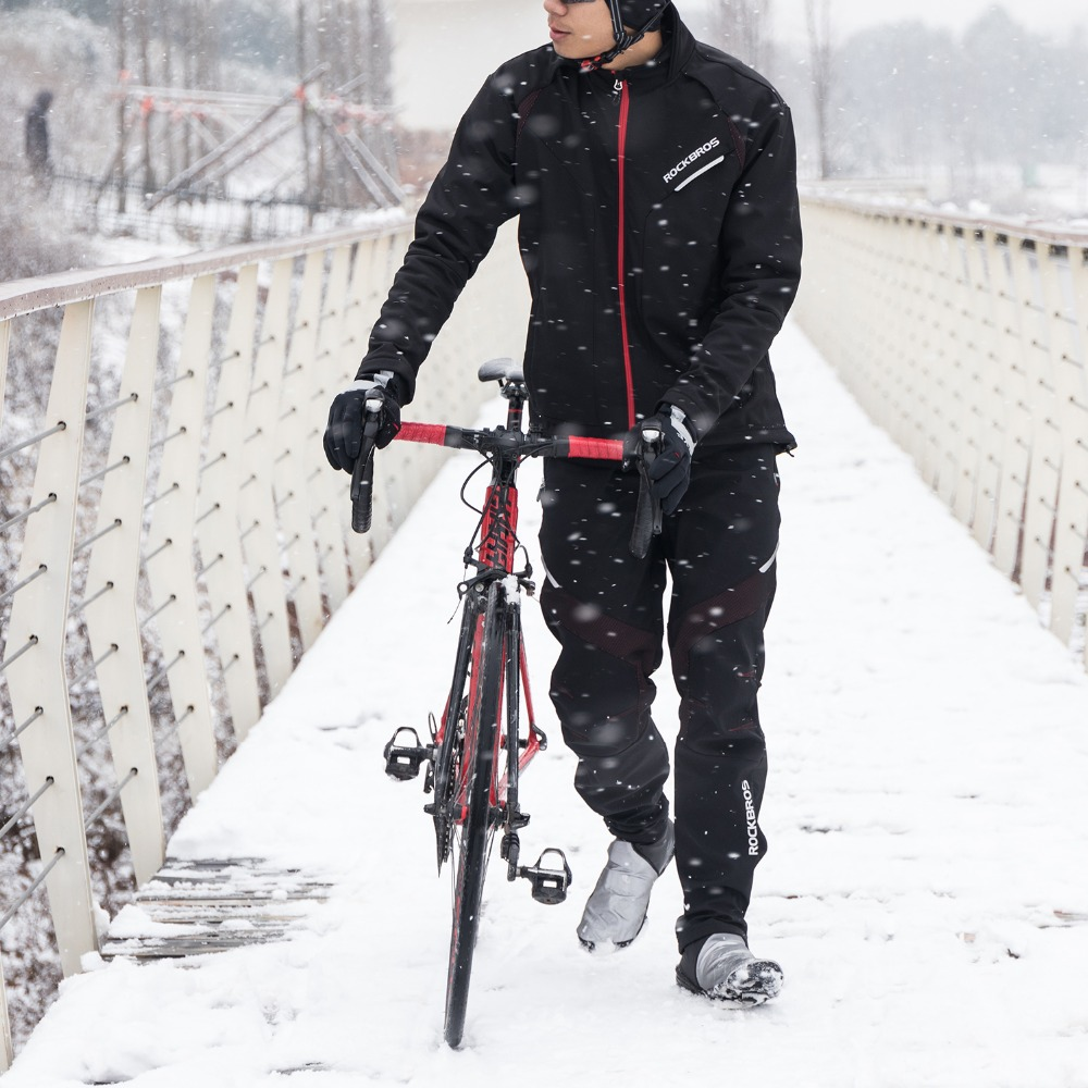 Cycling Jacket Winter Windproof Jacket Trousers Outdoor Sport Unisex Clothing