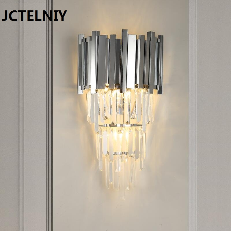 Modern Crystal Living Room Wall Lamp Bedroom Silver Lighting Villa Aisle Wall Lighting crystal flower pendant light modern lighting living room lamp bedroom lamp aisle lighting