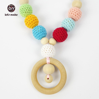 Organic Rainbow Teething Necklace Baby Wearing Necklace Nursing Necklace Breastfeeding Necklace