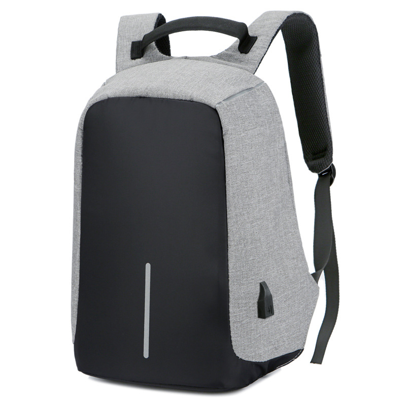 Bacisco anti theft backpack women men external USB charge 15 inch laptop backpack waterproof multifunction high capacity bags 14 15 15 6 inch flax linen laptop notebook backpack bags case school backpack for travel shopping climbing men women