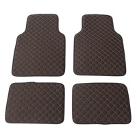 Custom Universal RHD / LHD Black Coffee Football texture Car Floor Mats For BMW Car Styling Interior Fashion Car Floor Mats
