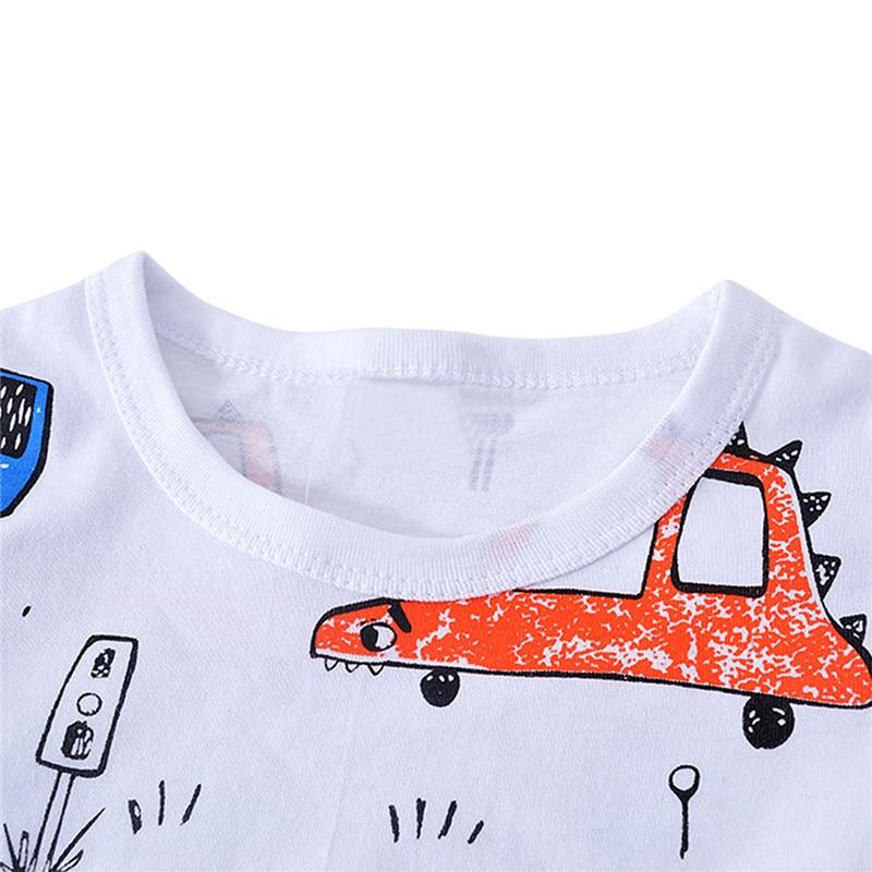 roupa do bebe casuais meninos curta animados roupas 03