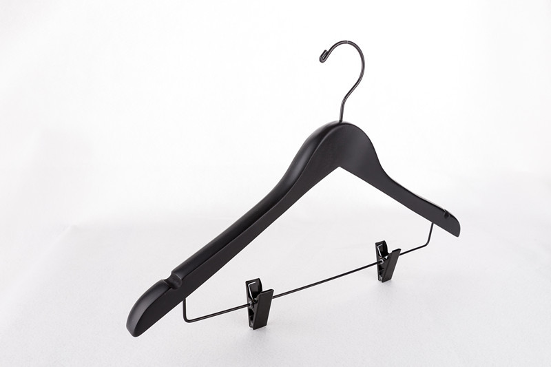 Us 3751 6 Offhangerlink Deluxe 20 Cm Thickness Black Wooden Suits Hanger Clothes Hanger Coat Hanger With Clips 6 Pieces Lot In Hangers