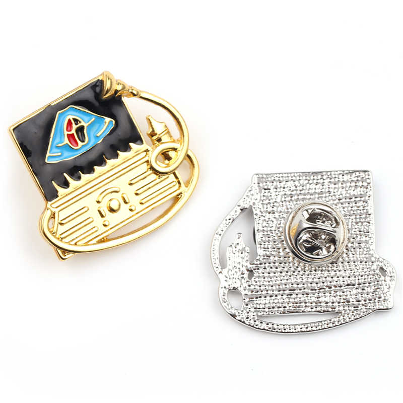 זהב/כסף צבע לב אמייל סיכות תגי סיכות לגברים נשים בגד אביזרי רפואי תכשיטי לב פגם מתנה