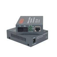 1 пара HTB-3100AB 10/100 M оптический Media Converter Netlink SC одномодовое волокно оптический трансивер и приемник 25 км