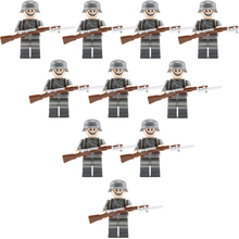 10PCS WW2 German Army Soldiers Officer Building Blocks Bricks Military Figures Weapons Guns Model Accessories Brick Block Toys(China)
