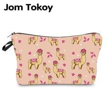 Jom Tokoy Water Resistant Makeup bag Printing Alpaca Cosmeti