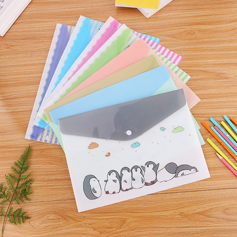 1pcs Animal File Holder Stationery A4 Folders Cute Paper Storage Novelty PVC Bag Student File Organizer Kawaii Office Portfolio