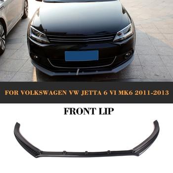Carbon Fiber Front Bumper lip spoiler For VW Jetta 2011-2013