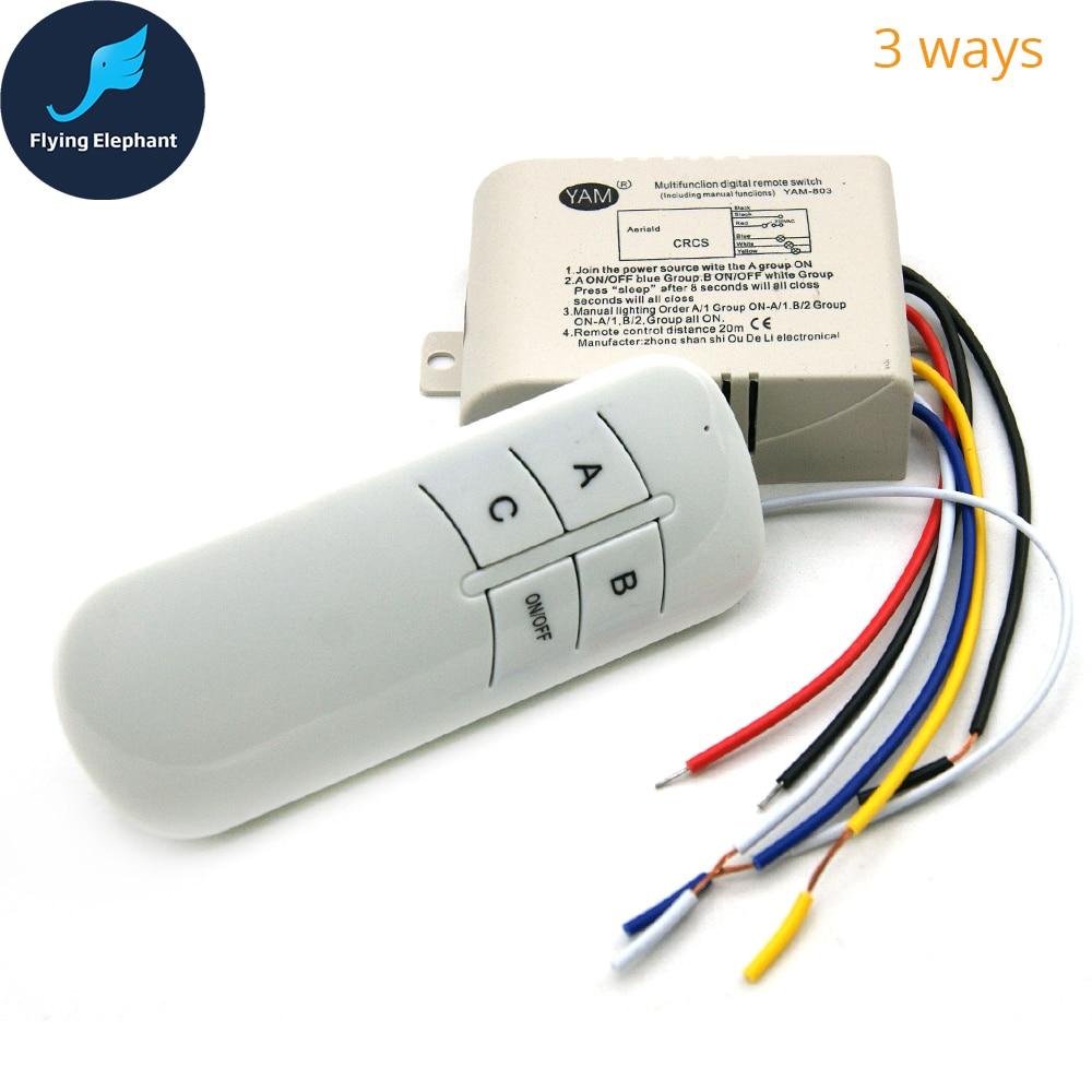 Original YAM 1 way 2 ways 3 ways 4 ways smart remote lighting ...