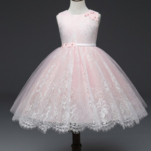 AmzBarley Girl Princess Dress Summer Flower Tutu Wedding Birthday Party Dresses Children Lace Ball gown Teenager Costume clothes цена в Москве и Питере