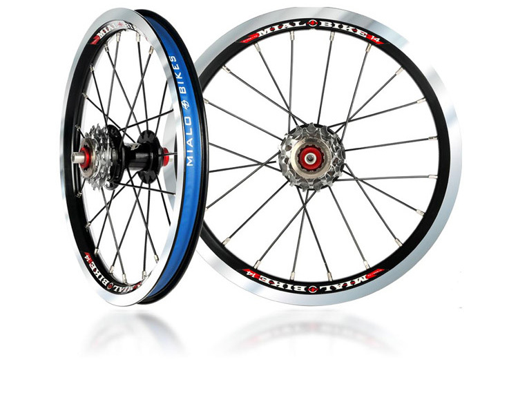 Mialo external three speed 11/13/15T folding bike wheelset ultralight 14 inch alloy wheel BMX wheel for bya412 refit стоимость