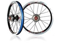 Mialo external three speed 11/13/15T folding bike wheelset ultralight 14 inch alloy wheel BMX wheel for bya412 refit