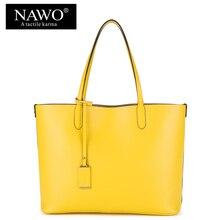 NAWO Rot Casual Frauen Tragetaschen Große Kapazität Leder Handtaschen Neue Mode Berühmten Designer Marke Damen schulter Einkaufstaschen