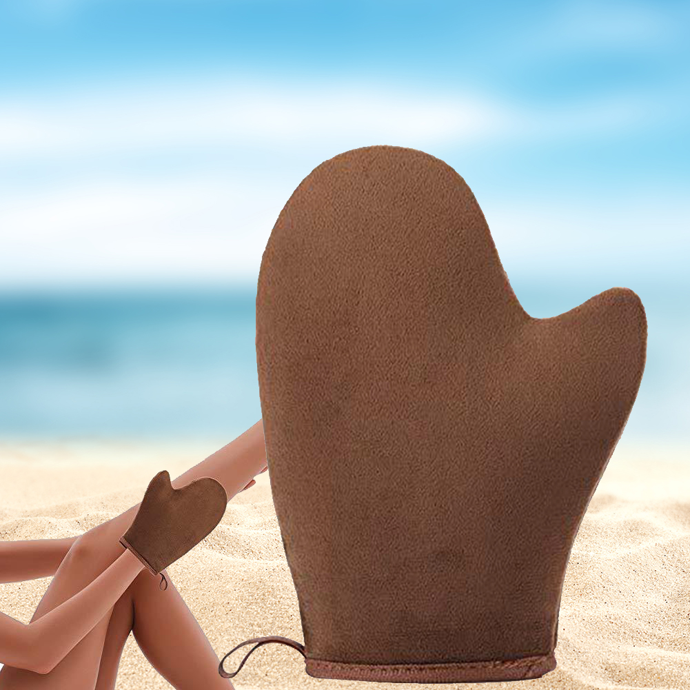 2pcs/set Feet Vacation Self Tanning Rub Sunscreen Home Cream Applicator Glove Outdoor Beach Sunless Body Tool Professional Soft