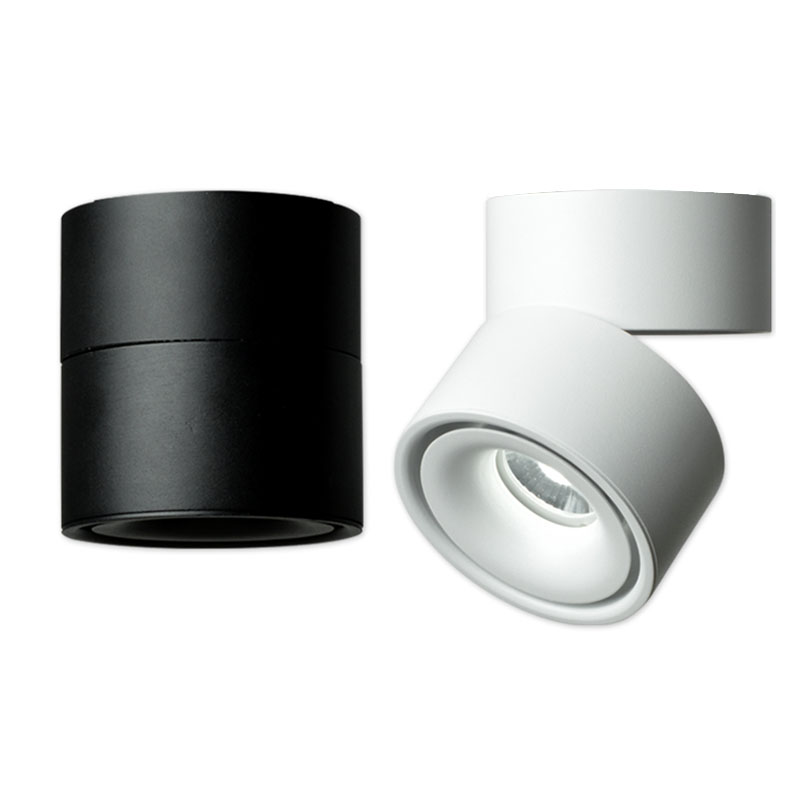 Us 24 64 15 Off Modern Small Cree Led Spotlight 7w 10w 12w 360 Degree Rotation Aisle Lamp Indoor Home Down Light Ac 85 265v In
