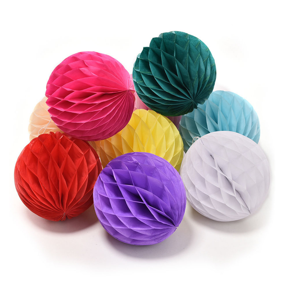 Compare prices on party paper flowers online shoppingbuy low 15cm tissue paper flowers balls pom poms honeycomb lantern party decor craft paper flower ball wedding dhlflorist Image collections