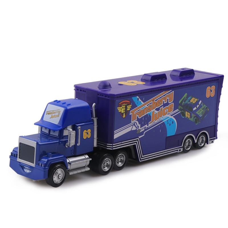 Дисней Pixar Тачки 2 3 игрушки Молния Маккуин Джексон шторм мак грузовик 1:55 литая модель автомобиля игрушка детский подарок на день рождения - Цвет: No.63