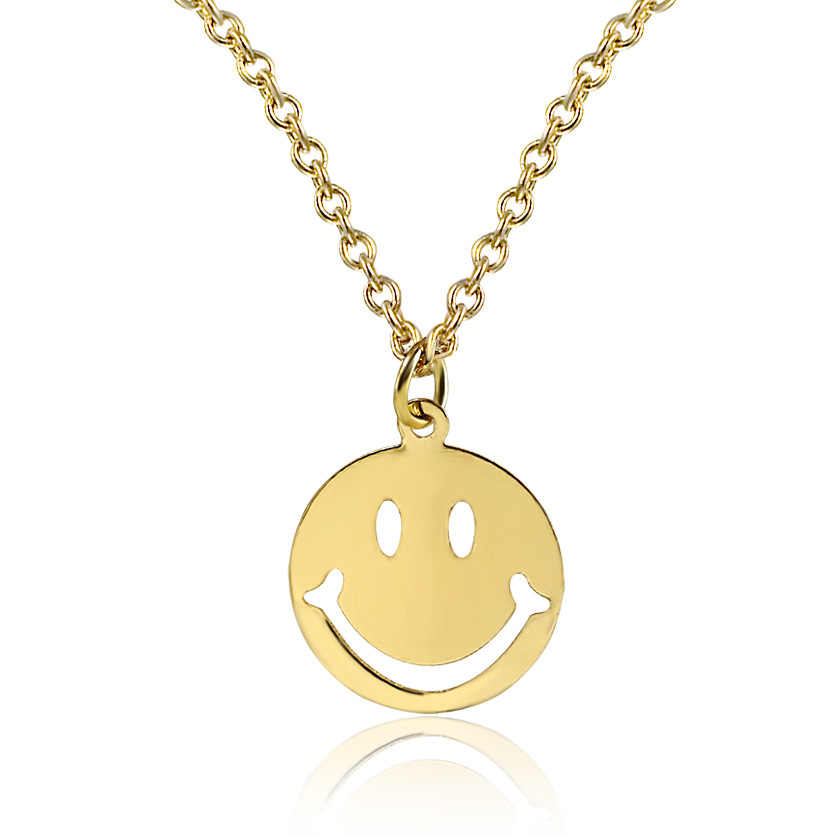 rock band smile nirvana band crystal glass pendant necklace jewelry wholesale