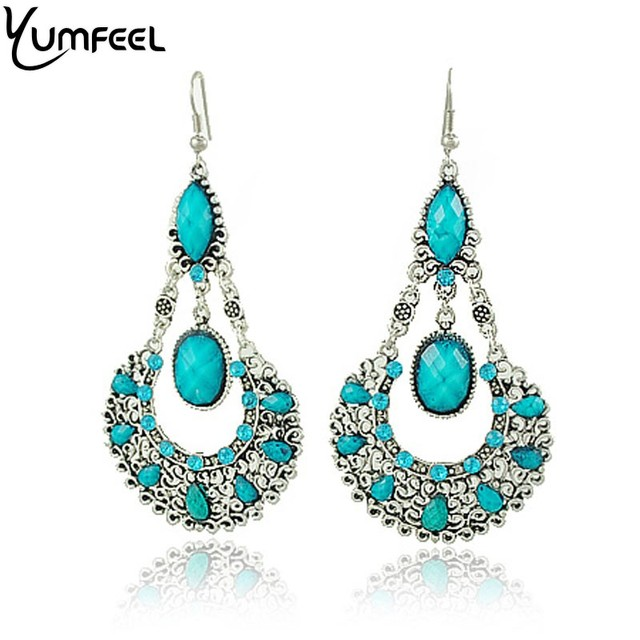 Yumfeel Wholesale Victorian Style Alloy Long Antique Drop Earrings Vintage Earring Whole sale