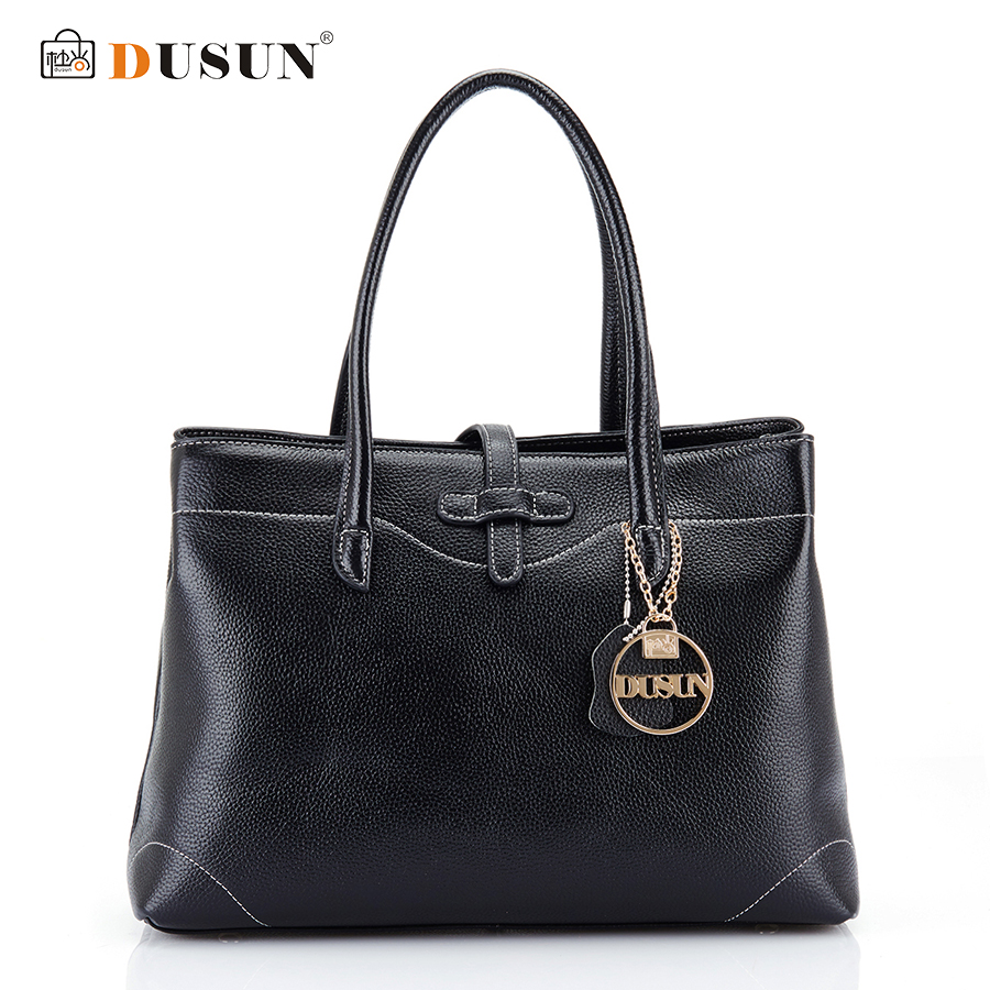 DUSUN New Genuine Leather Handbags Women Messenger Bags Fashion Women Bag Large Capacity Luxury Vintage Handbags Bolsa Feminina men s genuine leather handbags vintage fashion bolsa feminina casual 2017 new style messenger bag clutch shoulder bags office