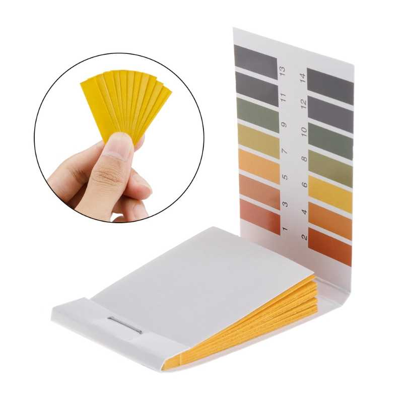 80 Pcs Test Papier 1-14PH Oplossing Strips Litmus Tool Kit Indicator Aquarium Vijver