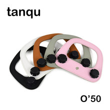 tanqu Colorful Oblong Faux PU Leather Handle for Obag'50 Bag Oblong Handle for O Bag O50' handbag Accessory(China)