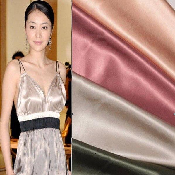 wholesale Hangzhou silk cheongsam material hanfu mulberry silk crepe satin 72 silk fabric for dress