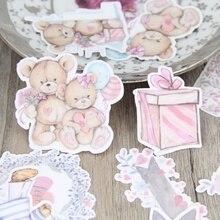 22 шт./компл. расписанные вручную акварелью медведь кукла цветок учетной записи дневник альбом DIY декоративные домашние наклейки пакет для скрапбукинга