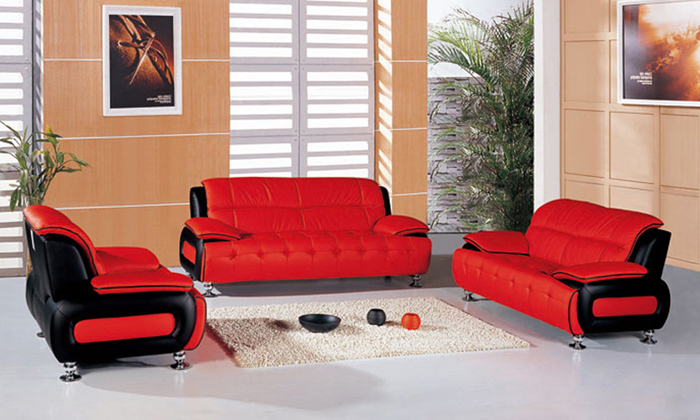 Free Shipping 1 2 3 Italy Desgin genuine leather sofa 123 Sectional Set love seat Sofa armchair in the living room L