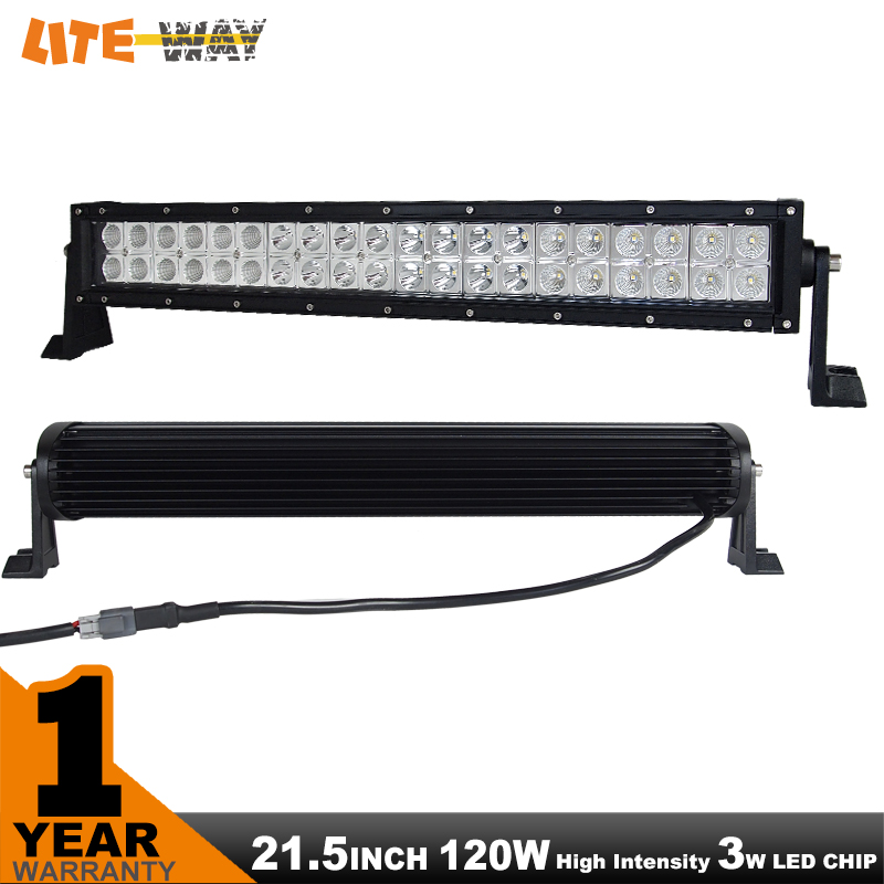 21.5  Inch 120W LED Light Bar for Off Road Work Driving  Boat Car Truck 4x4 SUV ATV Fog Lamp Spot Wide Flood Beam 12V 24V