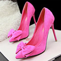 [328]shoe woman shoes The new fashion sweet fine with ultra-high-heeled pointed bow velvet bow women's shoes.PSDS-305-2