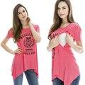 Оптовая Материнства Кормящих Топы Мода лето одежда Для Беременных Грудное Вскармливание Футболки для Беременных Женщин