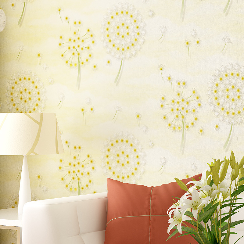 beibehang pastoral dandelion non woven Wallpaper roll Papel De Parede 3D Wall paper Decorative Living room Bedroom contact-paper