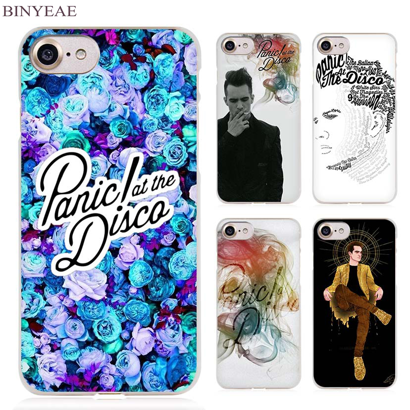 BINYEAE Panic At The Disco Clear Cell Phone Case Cover for Apple iPhone 4 4s 5 5s SE 5c 6 6s 7 7s Plus