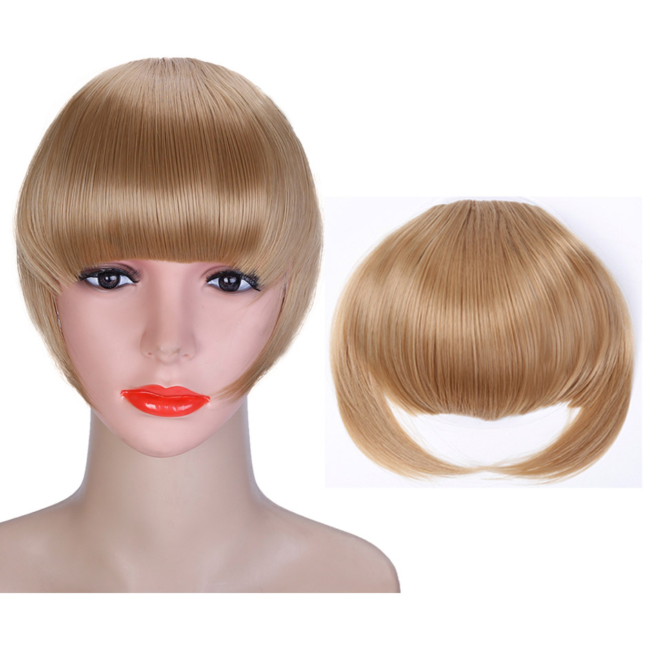 WTB Straight Flat Clip In Bangs Hair Extensions with Heat Resistant ... bd51cb10466