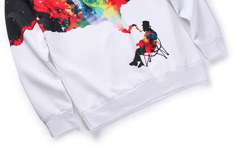 New Arrival Men/women 3d Sweatshirts Funny Print Smoking Person Person Smoking sweater HTB19GI
