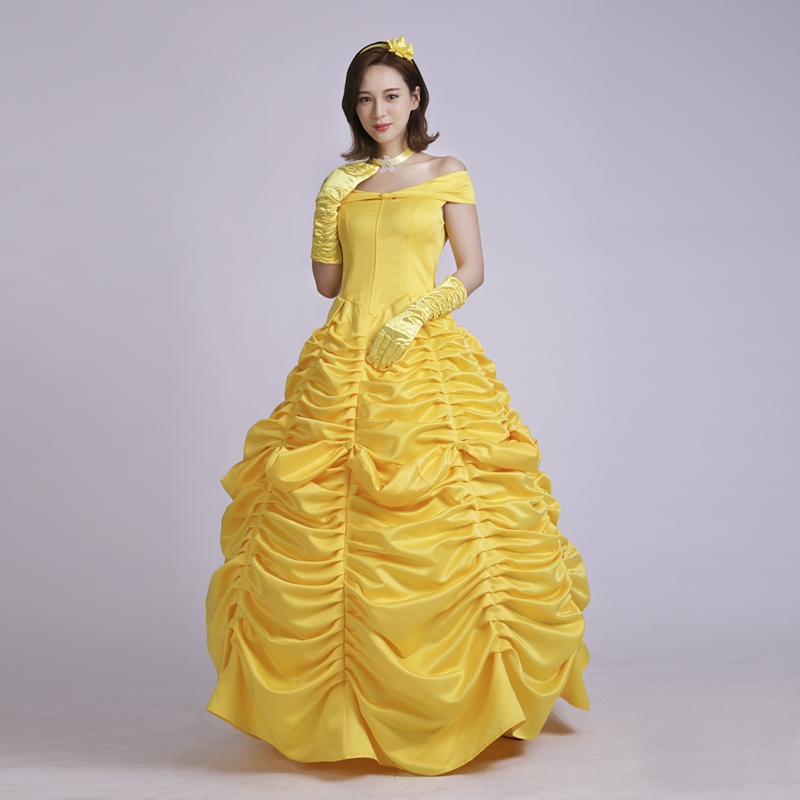 Halloween Princess Belle Dress Beauty and the Beast Belle Cosplay Costume For Wemen Belle Princess