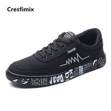 Cresfimix zapatos hombre male fashion comfotable pattern shoes men casual street lace up shoes man's cool round toe shoes c2697