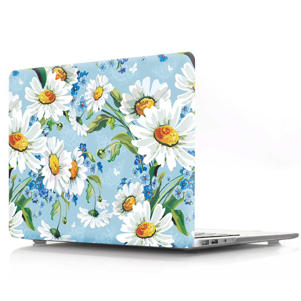 Plastic Floral Print Hard Case Cover For Macbook Pro Retina 13 12 15 Air 13 11 New Pro 13 15 Touch bar laptop Case Sleeve new leather sleeve protector bag stand cover for macbook air 13 pro retina 11 12 13 15 laptop case for macbook pro 13 touch bar