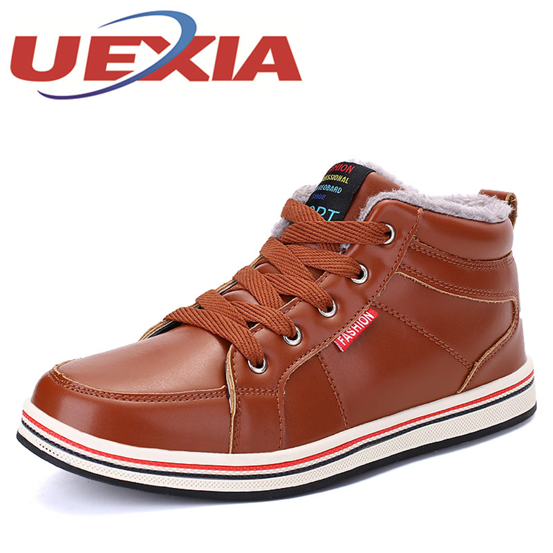 Plus Size 48 Mens Comfortable Outdoor High Top Cotton Shoes Winter Casual Sneakers Plush Warm Shoes With Fur Ankle Snow Boots winter warm shoes mens high top hiking shoes athletics outdoor plush ankle boots men sports shoes comfortable climbing sneakers
