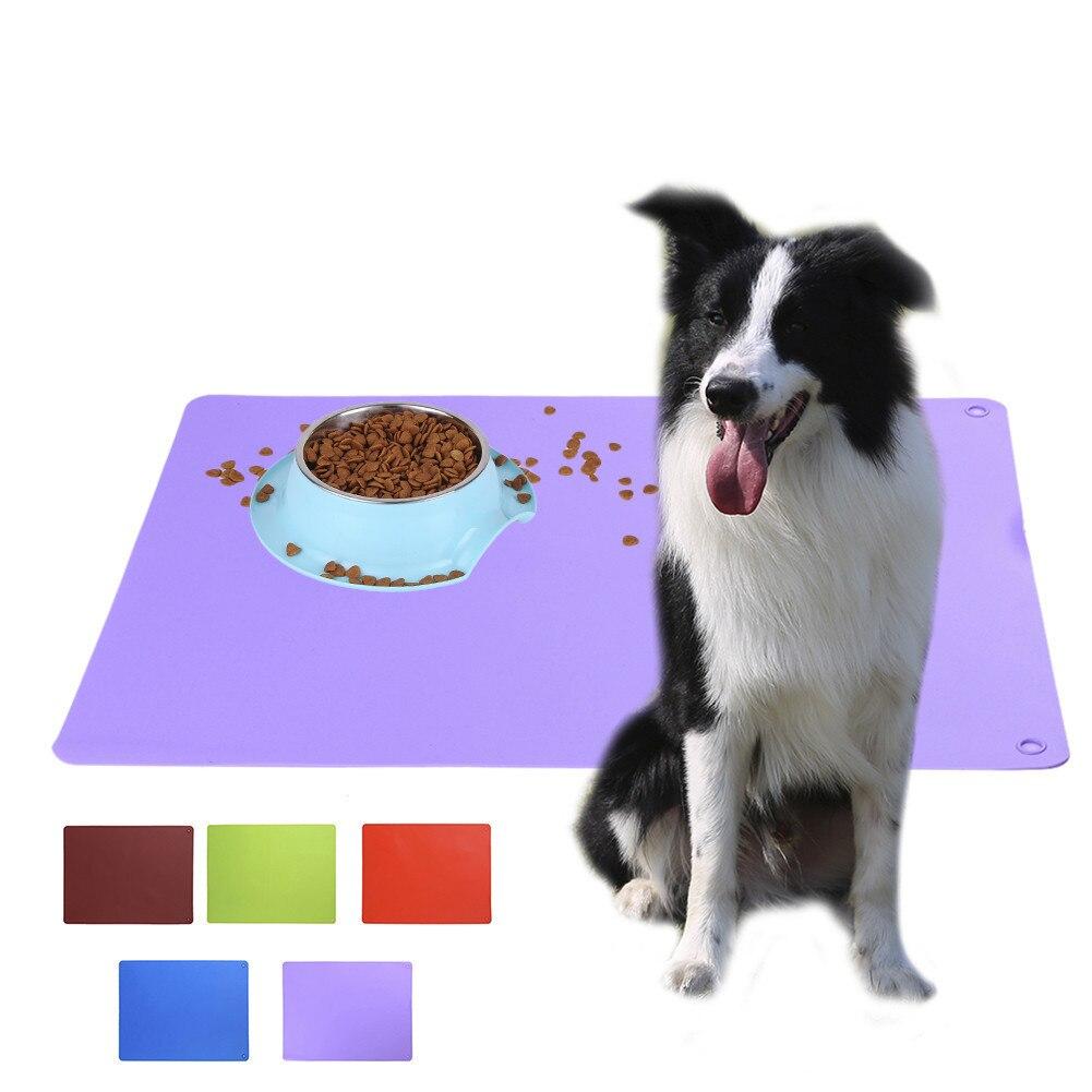 Pssopp Estera para Alimentos para Perros Bandeja Antideslizante para Alimentos para Perros FDA Silicona Mantel Individual para Perros Esterilla Grande de Silicona para Alimentos para Mascotas