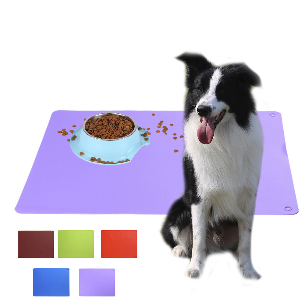 Silicone font b Pet b font Food Pad Dog Feeding Mat Waterproof Rubber Large font b